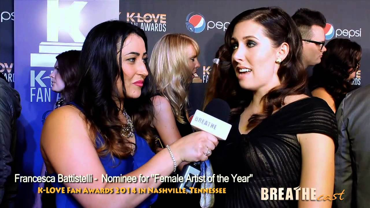 Francesca Battistelli on the Red Carpet of the KLove Fan Awards |  BREATHEcast com (HD)