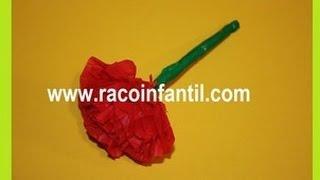 como hacer un clavel de papel facil y original (www.racoinfantil.com)