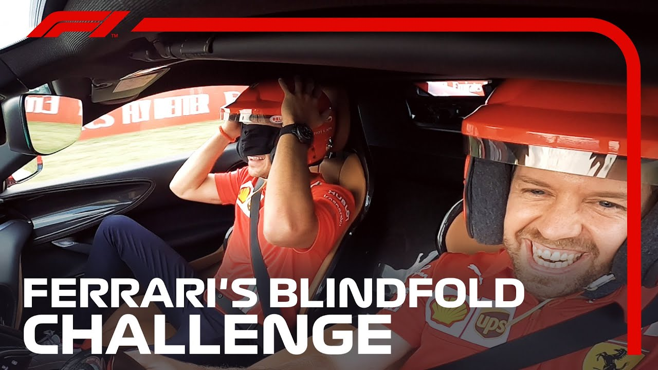 Ferrari's Blindfold Challenge With Vettel And Leclerc!