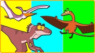 7 DINOSAURS WITH WINGS AND FEATHERS - Can They All Fly? | Flying Dinosaurs | Dinosaur Cartoons