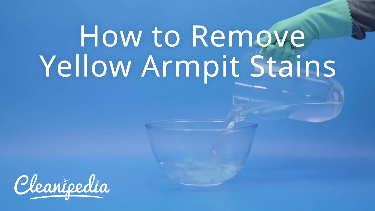 How to remove yellow armpit stains youtube for How to keep your armpits from sweating through your shirt