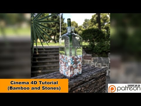 Bamboo and Stones (Cinema 4D - Tutorial)