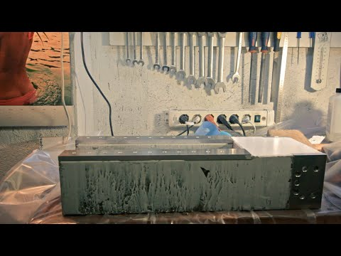 home made epoxy granite cnc - part 3 - base of the Z axis