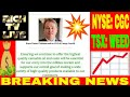 BREAKING NEWS - Canopy Growth (NYSE: CGC) (TSX: WEED)