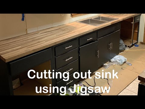 How To Cut Out Sink In Butcher Block Or