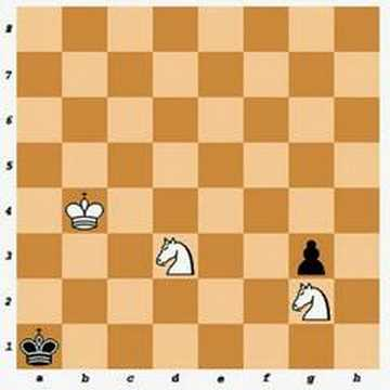 Chess Endgame: Two Knights vs Pawn