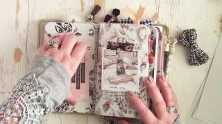 my november planner society kits set up in my foxy fix travelers notebook