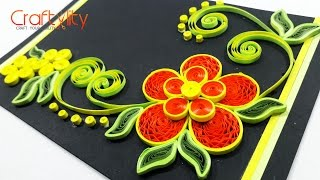 DIY Paper Quilling Crimped flower Cards Tutorial: How to make Quilling paper Crimped flower Cards