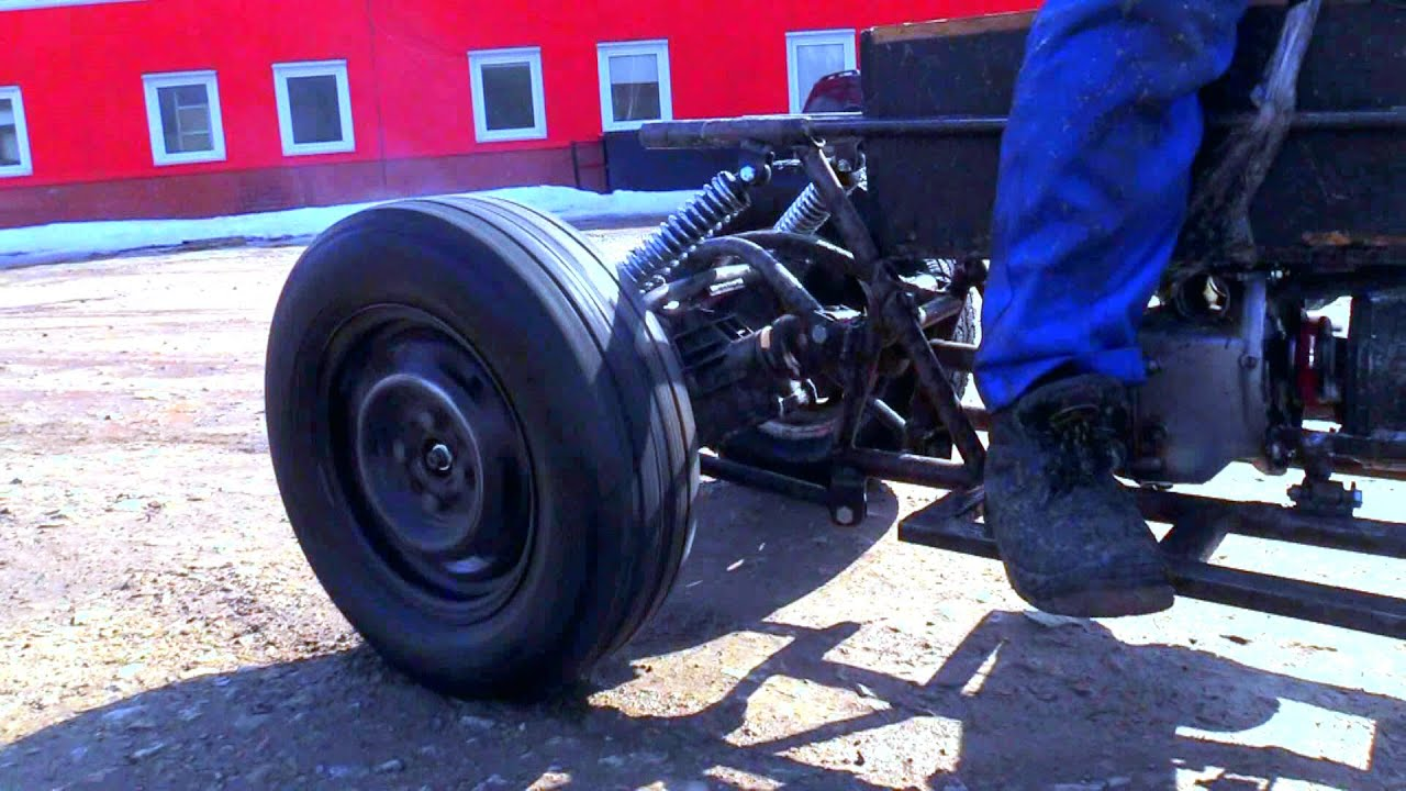 Мощный быстрый бесшумный электро квадроцикл из металлолома!!