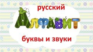 Алфавит русского языка - название букв и звуки. Учим как звучат буквы.