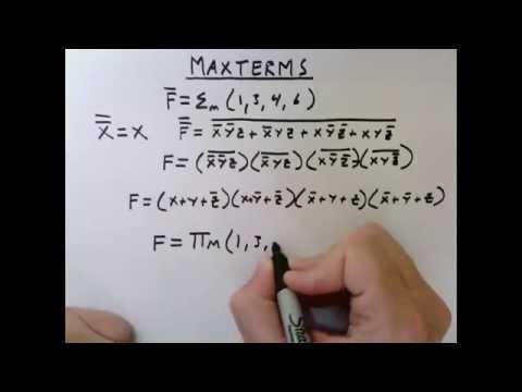 Lesson 17: Maxterms