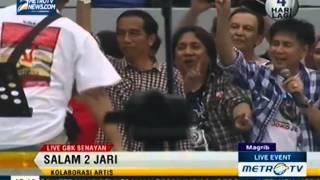 Konser Salam 2 Jari Slank dan Jokowi Salam 2 Jari