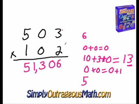Number Names Worksheets multiplication of three digit numbers : Simply Outrageous Math: 3 Digit Multiplication - YouTube