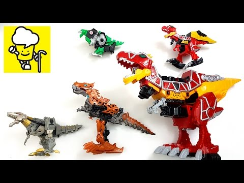 Robot Dinosaurs for kids with transformer トランスフォーマー 變形金剛 獣電戦
