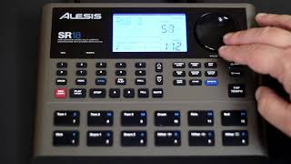 Alesis SR18 - a few pattern demos