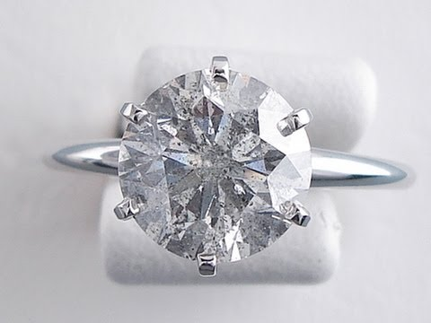 2.61 Ct Round Brilliant Cut G I1 Diamond Solitaire Ring - BigDiamondsUSA
