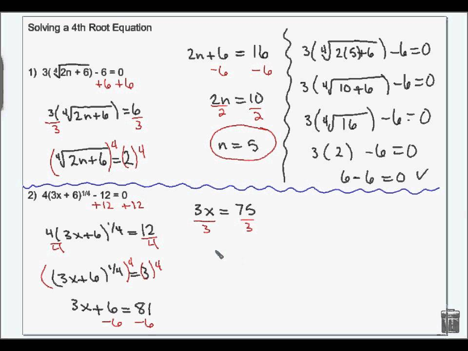 Solving Radical Equations And Inequalities Wmv Youtube