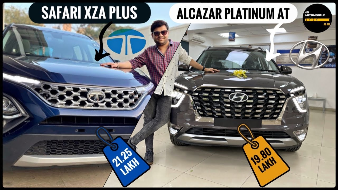 Hyundai Alcazar VS TATA Safari Real life-Most Detailed Video on YouTube|Diesel Automatic Comparison|