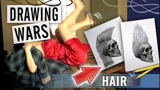 How to Draw Hair - Drawing Wars - Episode 3