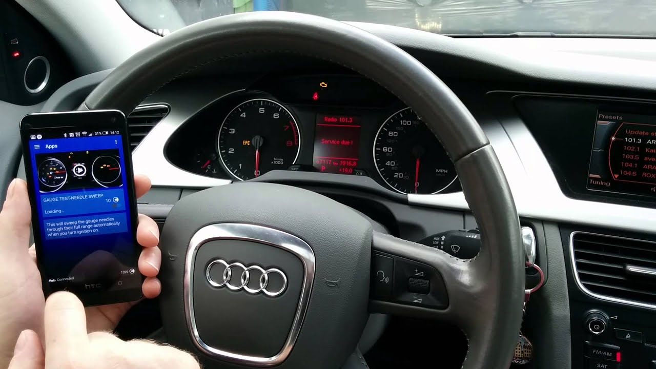 Audi A4 A5 Q5 Needle Sweep Activation In Instrument Cluster Youtube