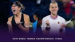 Belinda Bencic vs. Petra Kvitova | 2019 Dubai Final | WTA Highlights