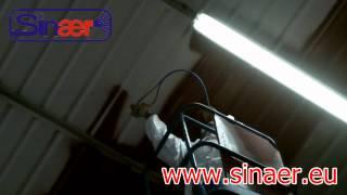 Spray application of vinyl primer for asbestos encapsulation by SINAER ®