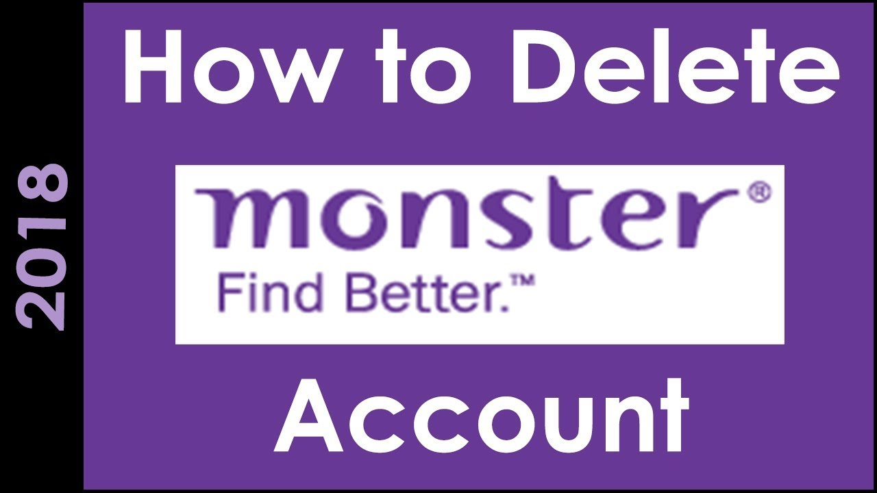 How To Delete Monster India Account Permanently Youtube
