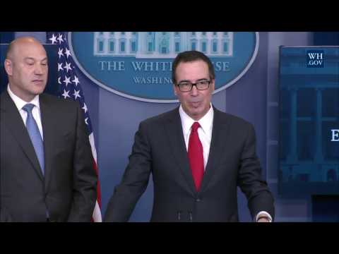 Briefing with Secretary of the Treasury Steven Mnuchin and N