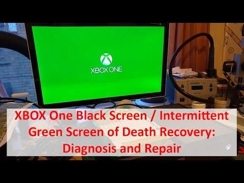 XBOX One Black Screen / Intermittent Green Screen of Death Recovery - Diagnosis and Repair