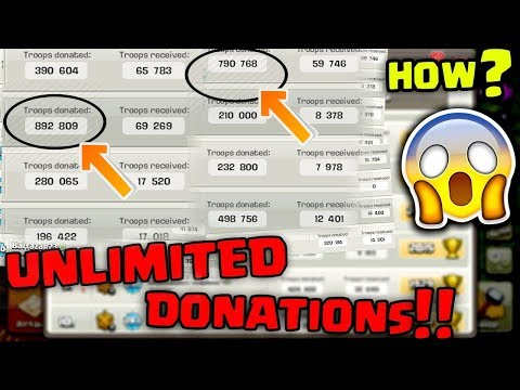 UNLIMITED DONATIONS !! In Clash Of Clans....... HOW ??