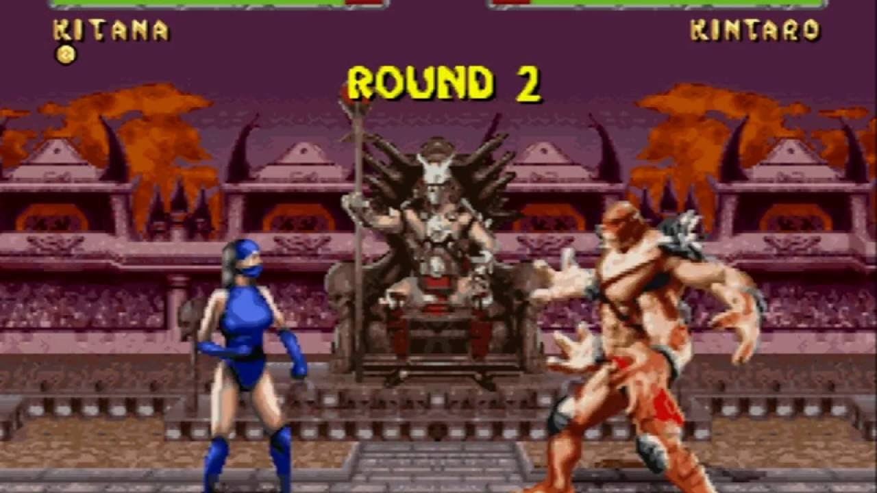 Mortal Kombat 2 Super Nintendo Kitana Playthrough 60 Fps