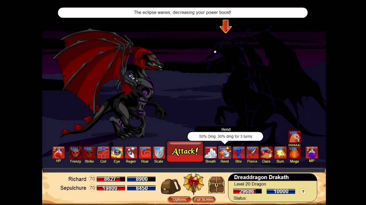 Dragon Fable Battling The Dragon Drakath HD