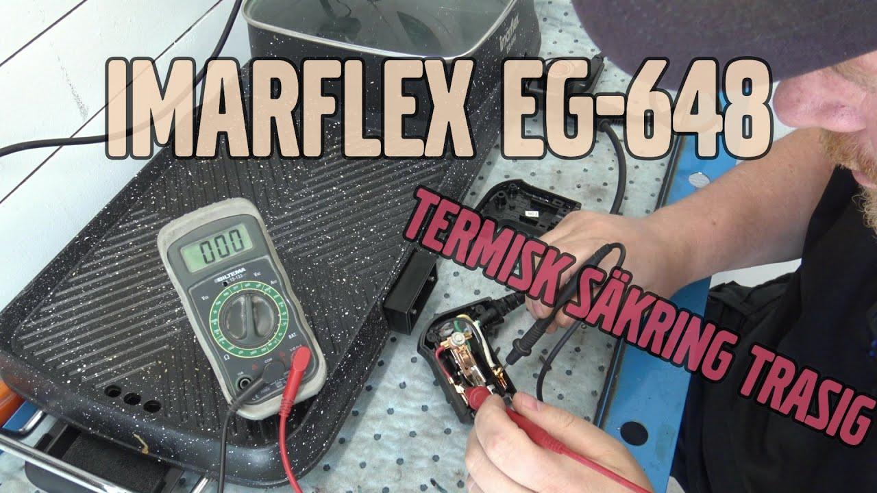 Felsöker och lagar kabel till ett Imarflex EG-648 stekbord.