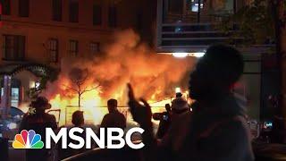 Car Burns In Washington D.C. Amid George Floyd Protesting   MSNBC