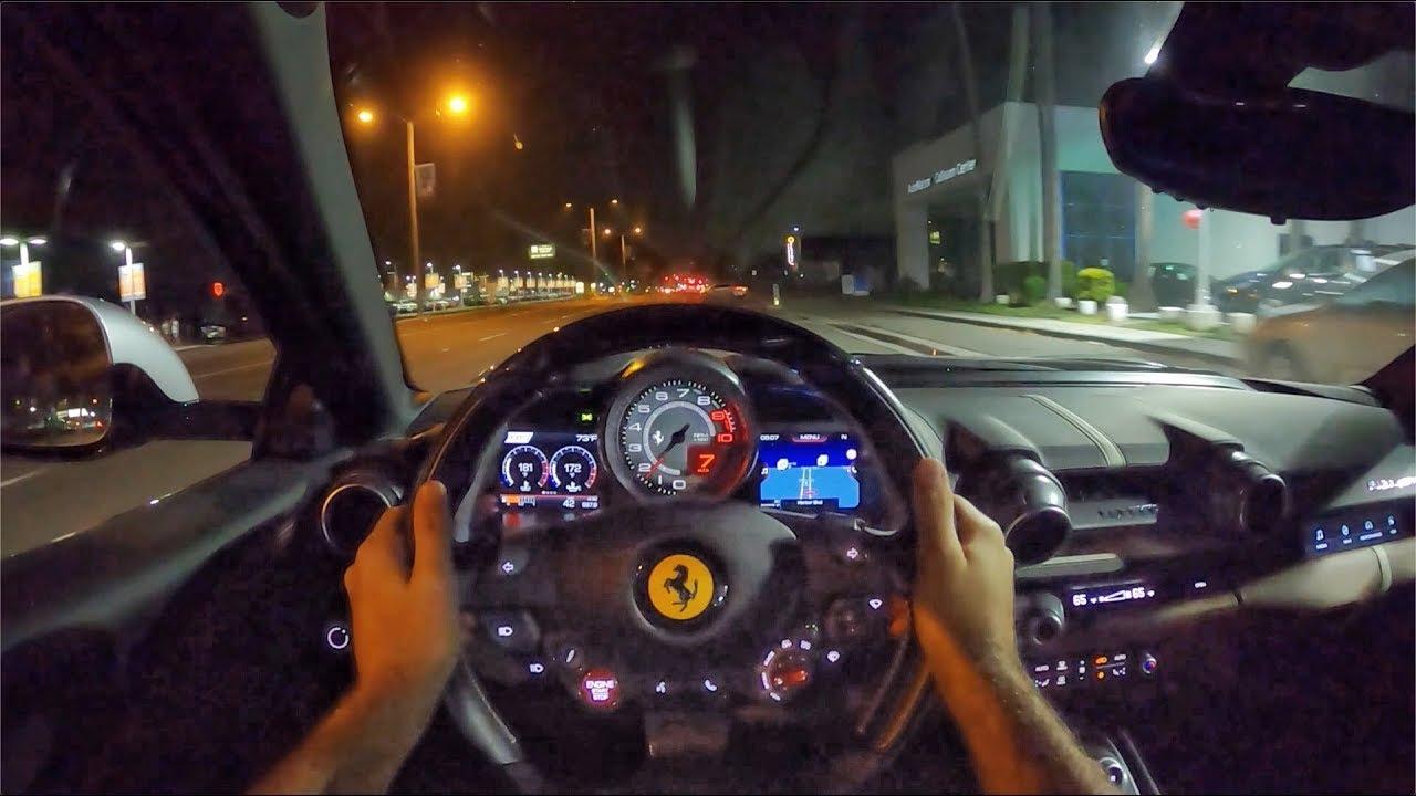 Ferrari 812 Superfast V12 POV Night Drive (3D Audio)(ASMR)