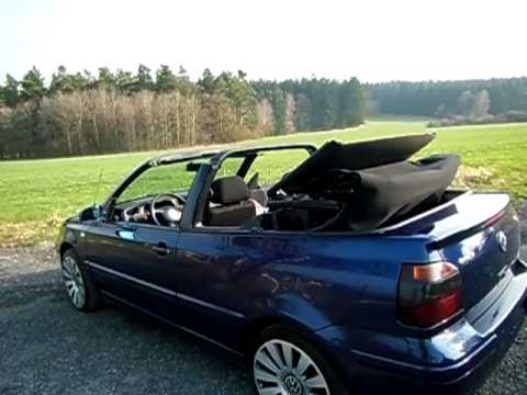 volkswagen golf 1 9 tdi cabrio youtube. Black Bedroom Furniture Sets. Home Design Ideas