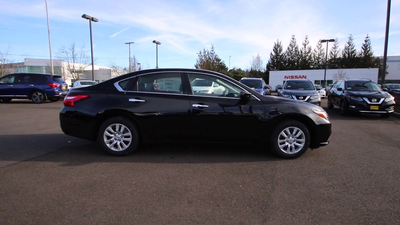 2017 Nissan Altima 2 5 S Super Black Hn331530 Kent Tacoma