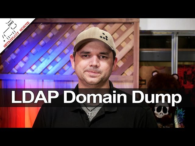 LDAP Domain Dump - Metasploit Minute
