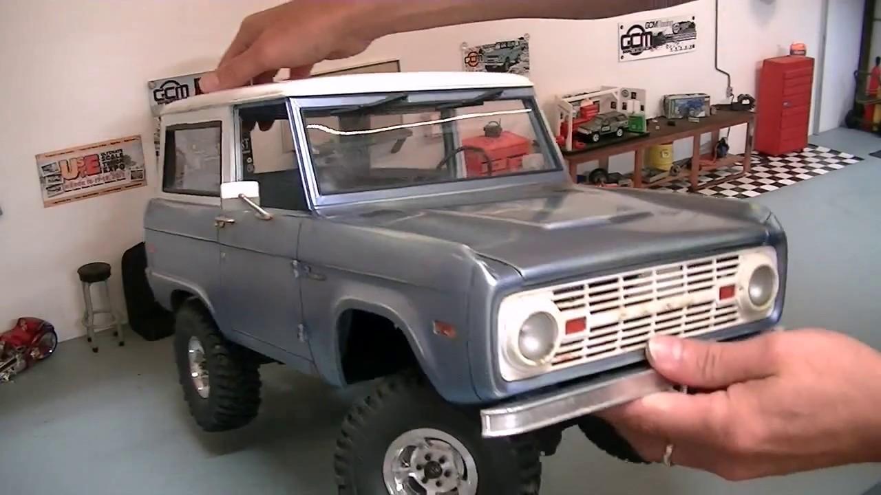 JS Scale Bronco CMAX - Body Mount Set - YouTube