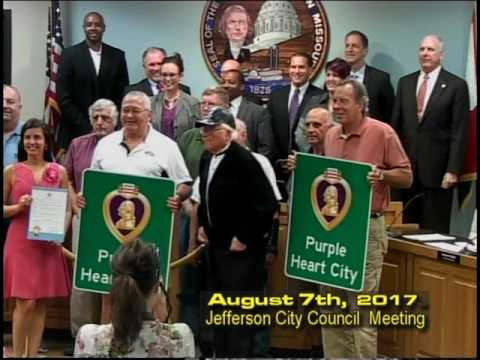 Jefferson City Council Meeting August 7th 2017