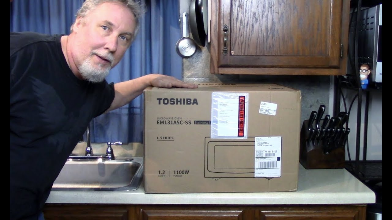 Unboxing A Toshiba Microwave Oven With Smart Sensor Youtube