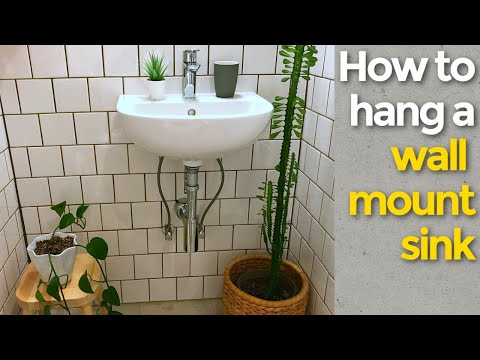 How to install a wall mount sink and plumb it too!