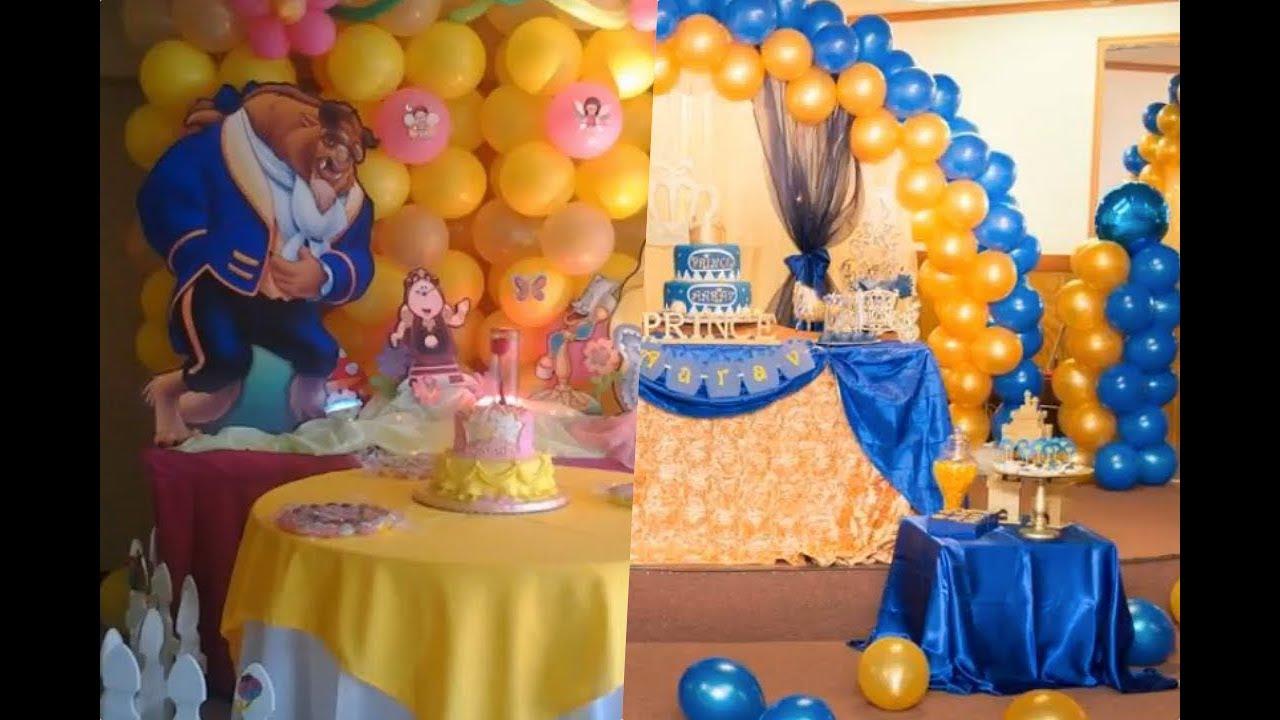 Decoracion Con Globos De Bella Y Bestia Para Cumpleaños