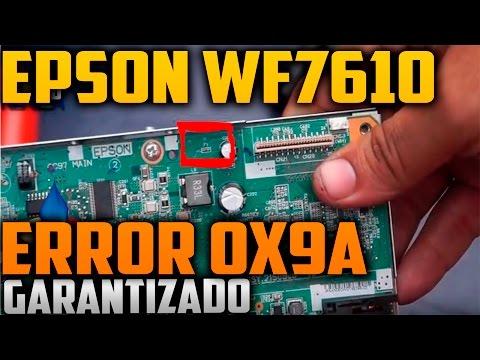 limpieza de cabezal epson workforce 7610 error 0x9a (solucionado)