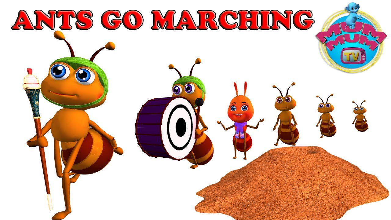 The Ants Go Marching Song With Lyrics