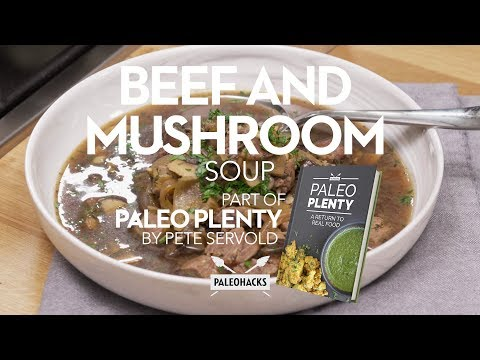 beef and mushroom soup with orzo