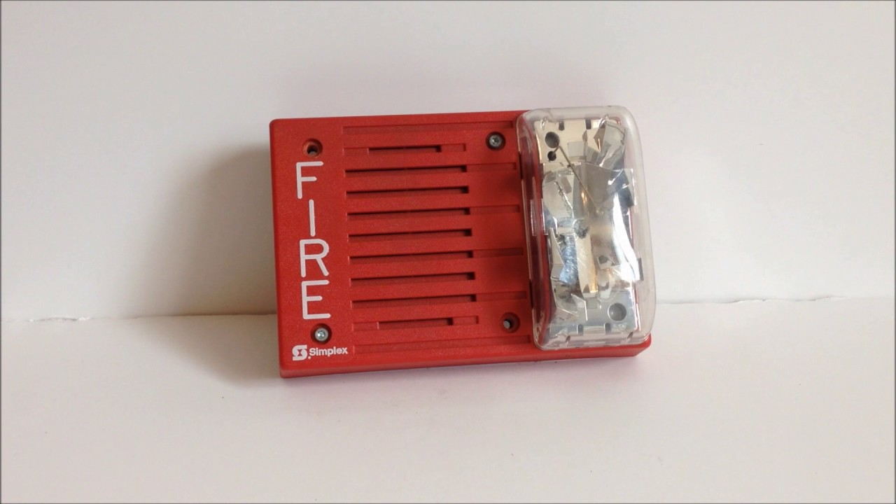 Simplex 4903-9219 Fire Alarm Horn/Strobe - YouTube