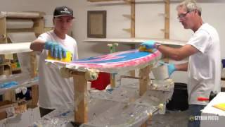 How to Paint and Laminate a Surfboard | VLOG #33