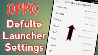 OPPO Defulte Launcher Settings screenshot 4