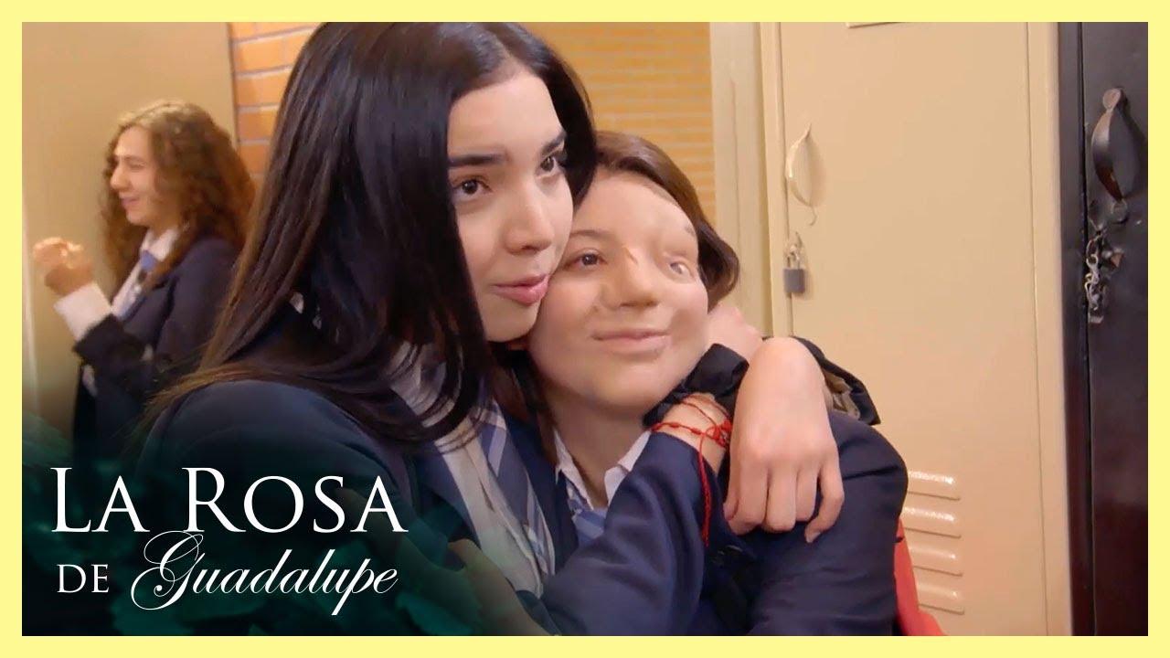 Ángela le salva la vida a su media hermana   Los ángeles no tienen marcas   La Rosa de Guadalupe